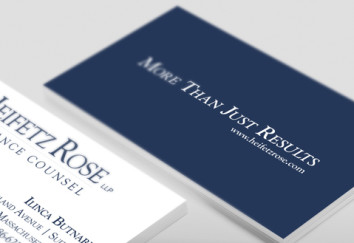 Boston Law Firm Business Card Design